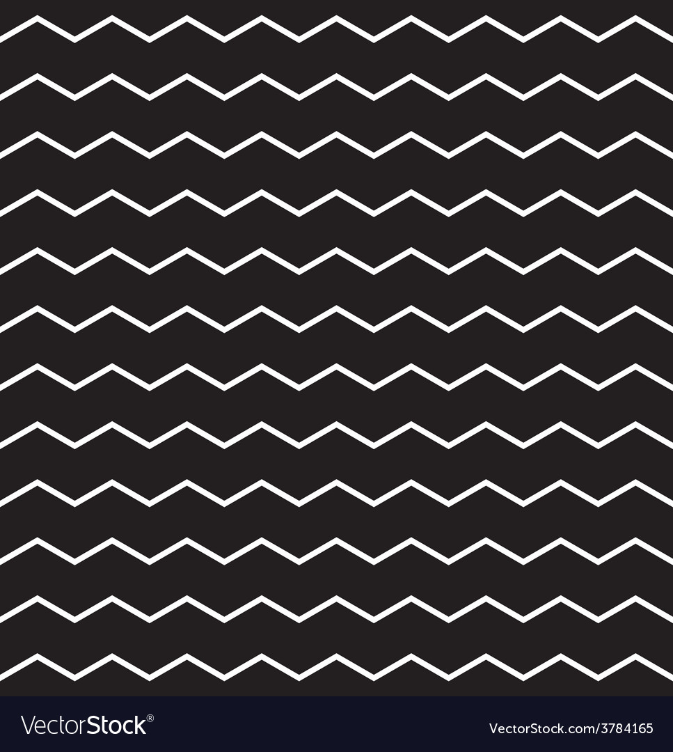 zig zag black and white chevron tile pattern vector image