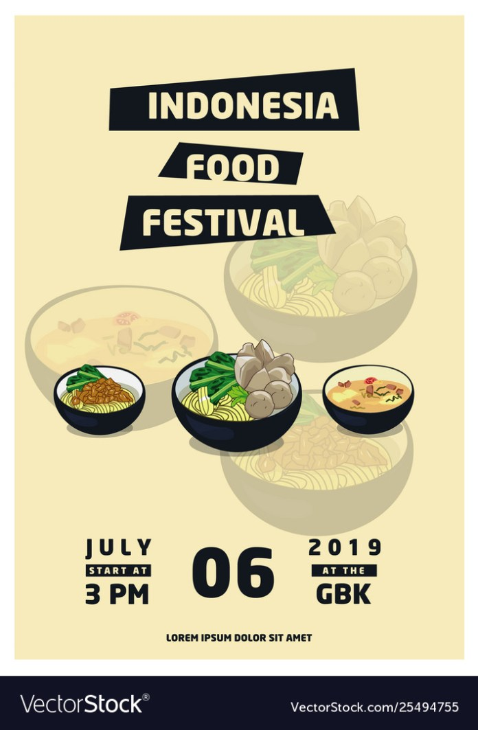 Indonesia Food Festival Royalty Free Vector Image