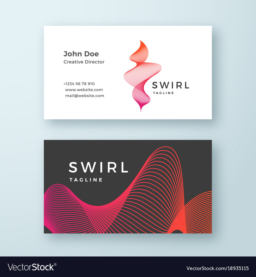 Abstract blend swirl business card template Vector Image