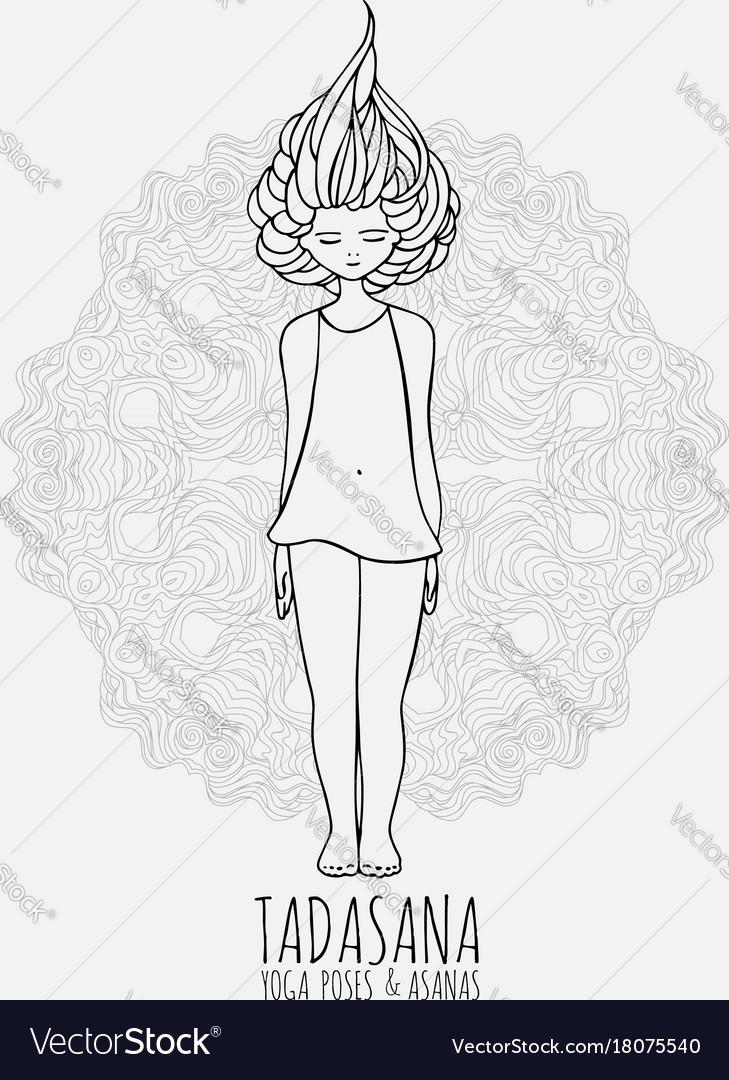 Girl Doing Yoga Drawing Wajiyoga Co
