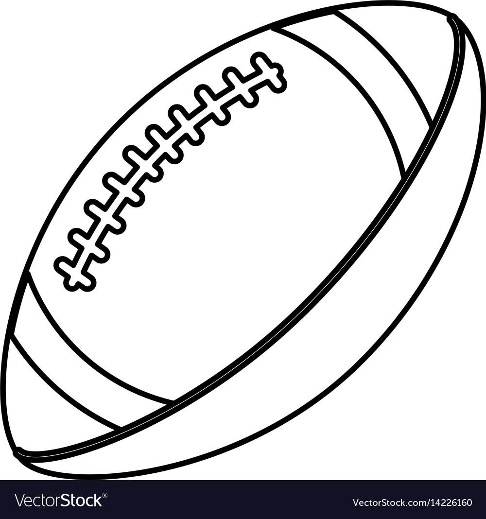 Football outline svg cut file, american football, custom football, football png, download file football, instant download, cricut. Ball American Football Sport Equipment Outline Vector Image