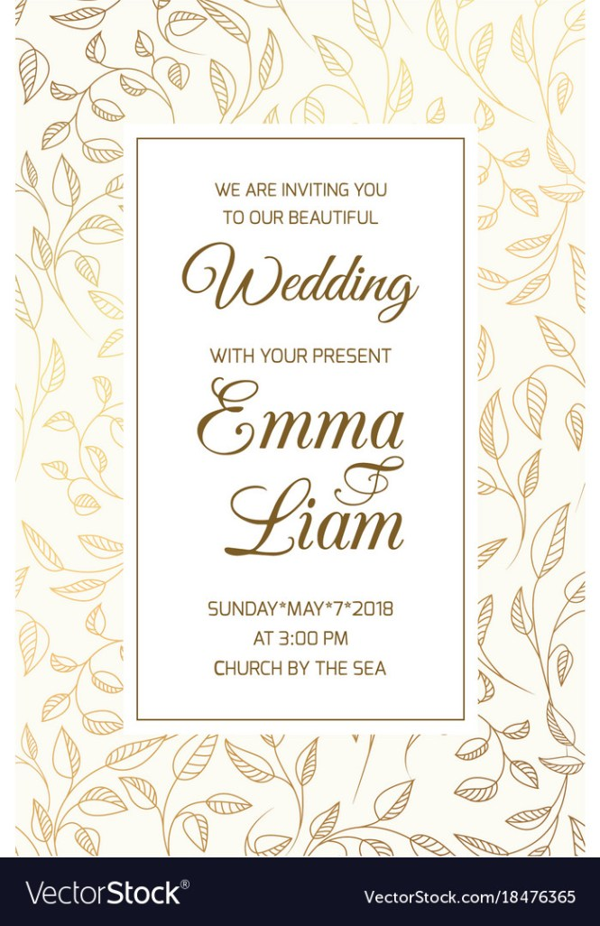 Wedding Invitation Card Template Swirl