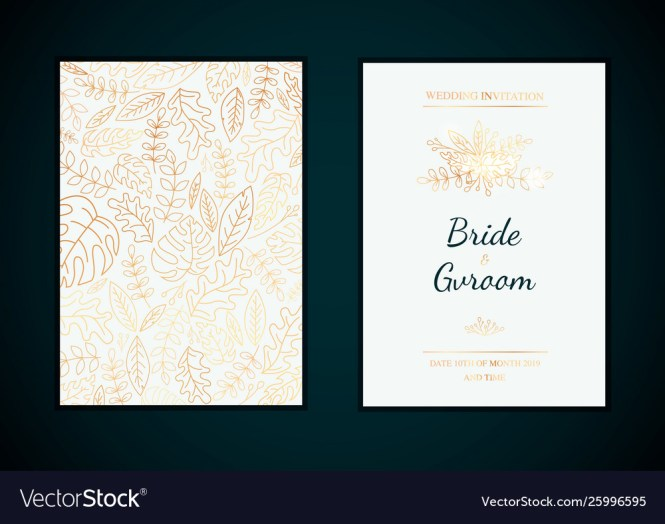 Golden Wedding Invitation Templates