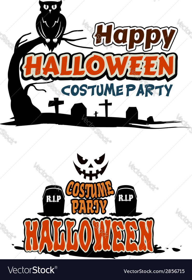 The spruce / autumn wood add some spirit to your halloween party games with a spooky ghost theme. Halloween Party Themes Royalty Free Vector Image