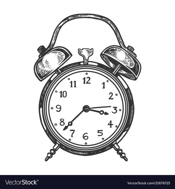 Old Fashioned Alarm Clock Royalty Free