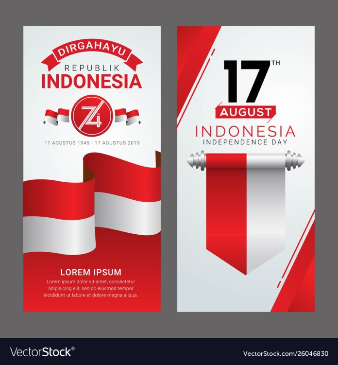 Happy Indonesia Independence Day Greeting Card Vector Image