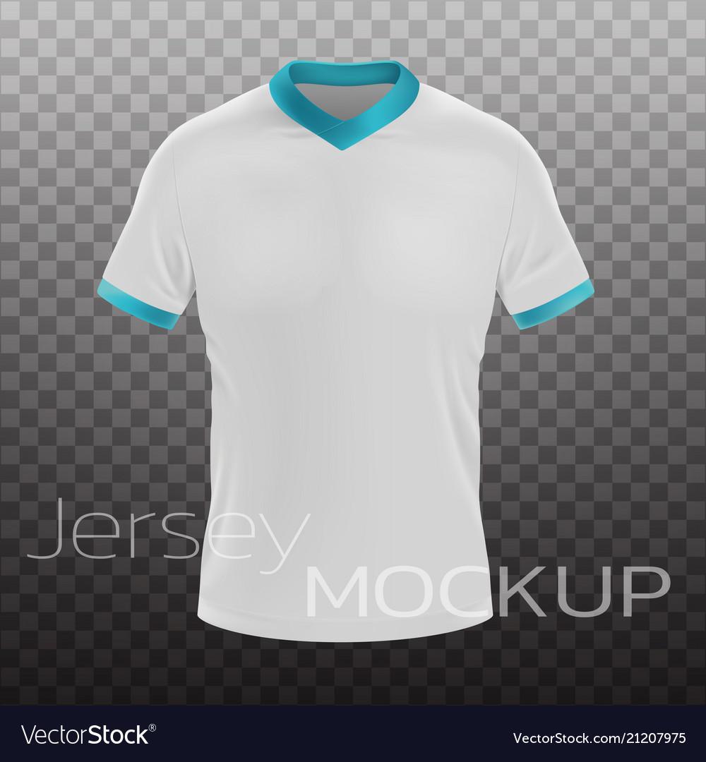 539+ tempat download mockup jersey gratis mockups builder find & download free graphic resources for jersey mockup. Jersey Mockup Realistic Royalty Free Vector Image