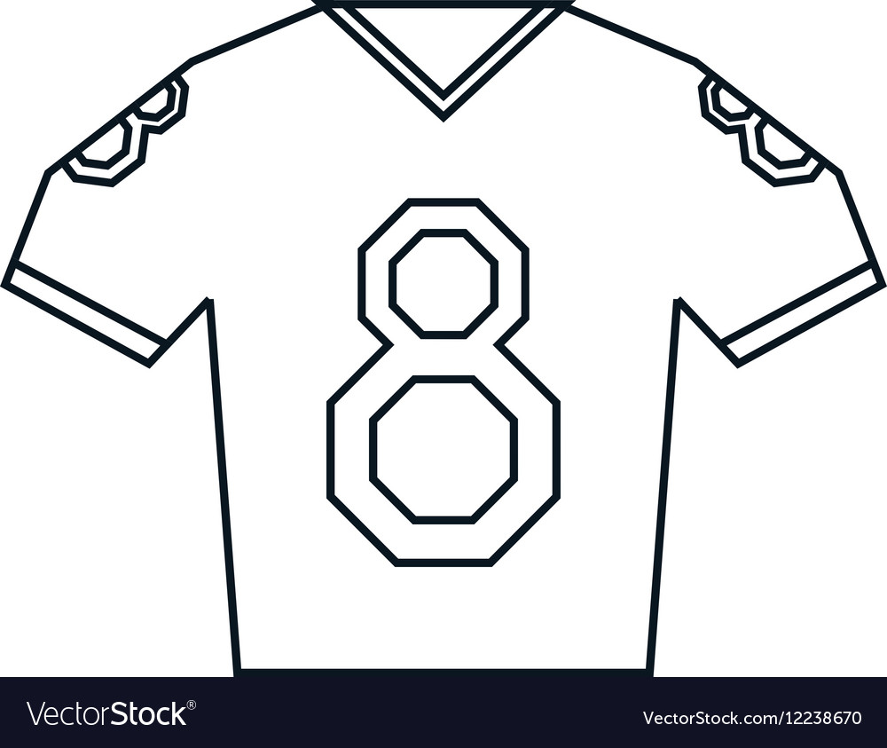 Choose from 8688 american football player stock illustrations from istock. Jersey American Football Tshirt Uniform Outline Vector Image