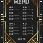 Restaurant Menu Template Luxury Vintage Artdeco Vector Image