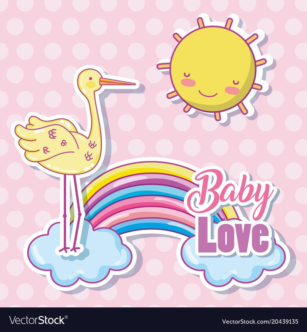 Download Baby love cartoon Royalty Free Vector Image - VectorStock