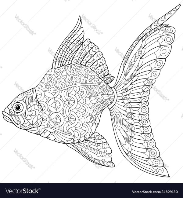 goldfish coloring page # 25