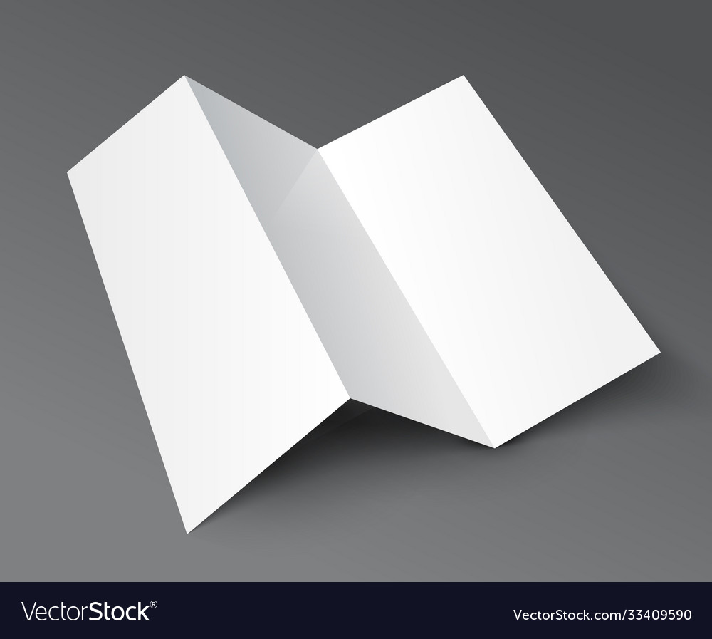 Including multiple different brochure templates like a4, a5 and a6 papers. Brochure Trifold Blank Leaflet Mockup Fold Flyer Vector Image