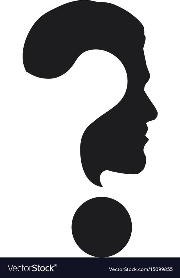 Question mark symbol Royalty Free Vector Image