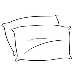 pillow pillows drawing vector images