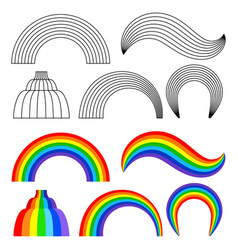 Kids Drawing Simple Rainbow Vector Images Over 500