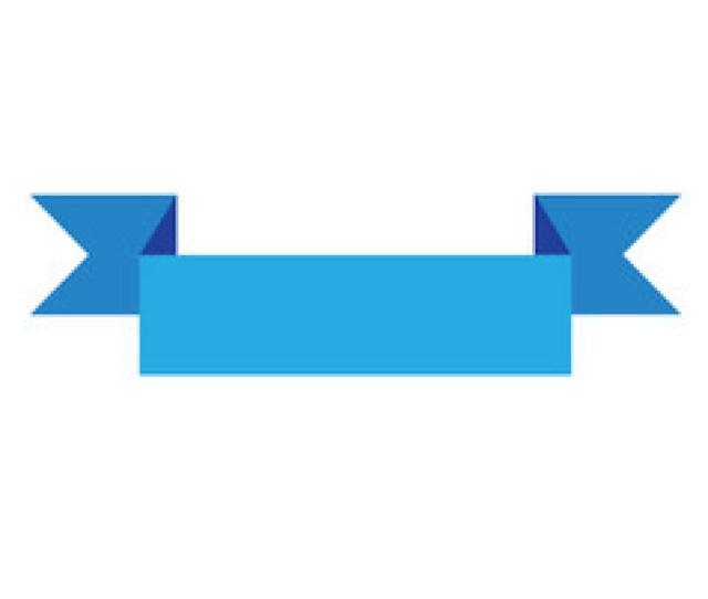 Blue Ribbon Banner Sign Blue Ribbon Banner On Vector