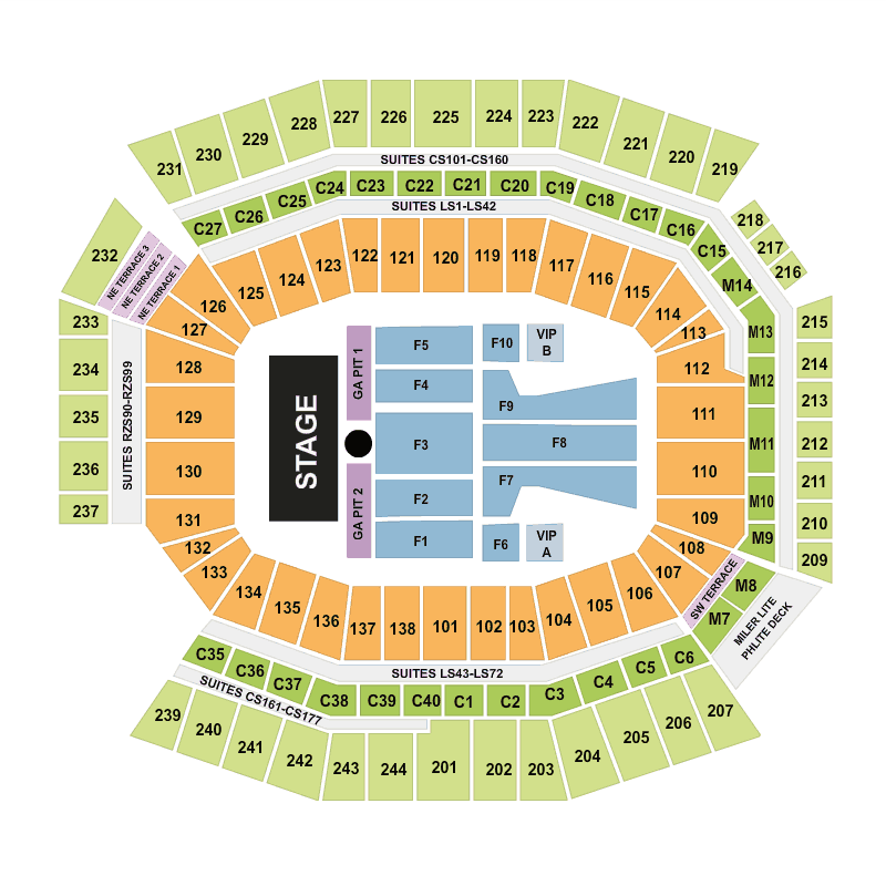 1 Direction Concert Seating Financial Chart Lincoln Field