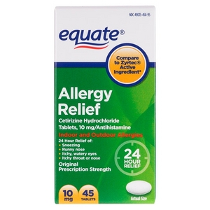 Equate Allergy Relief 24 Hour Indoor & Outdoor Tablets Reviews ...