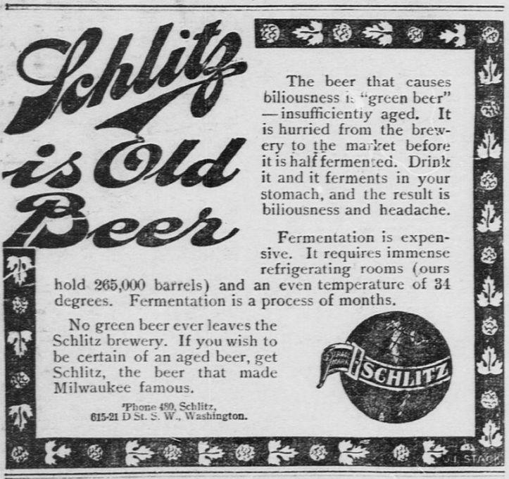 Schlitz is Old Beer!