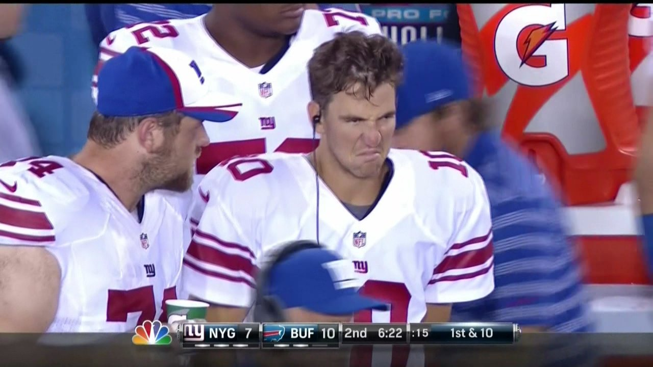 Image result for dopey images of eli manning