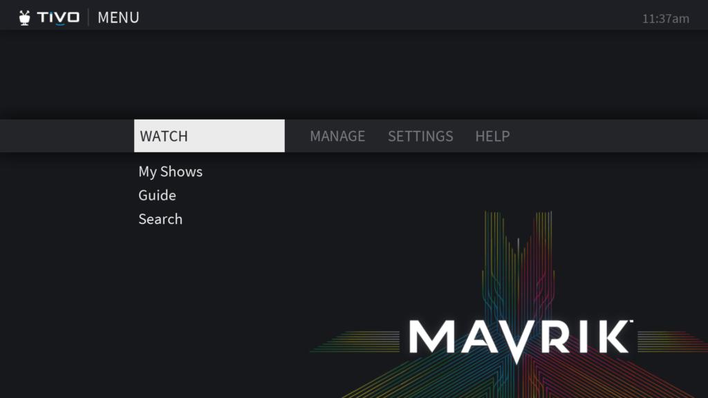 TiVo MavriK хмара на основі DVR
