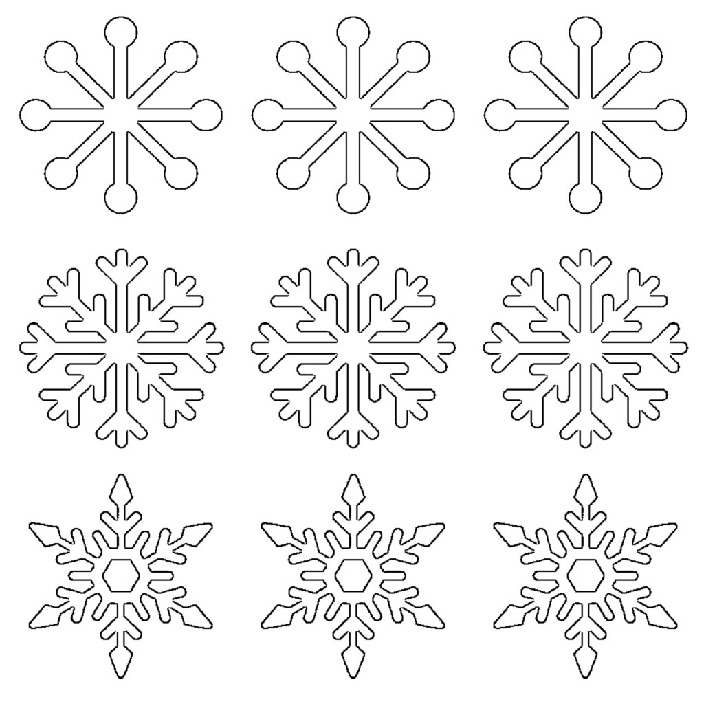 Free Printable Snowflake Templates Large Amp Small Stencil