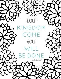 Bible Verse Coloring Sheet - part of a series of free printable adult coloring pages. Inspirational Bible verses can help you feel better on a bad day, kids & grown ups alike!