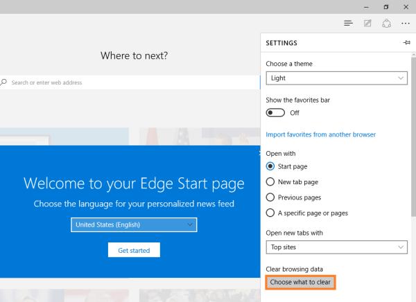 Microsoft Edge - Browserdaten löschen - Wählen Sie aus, was gelöscht werden soll - Windows Wally