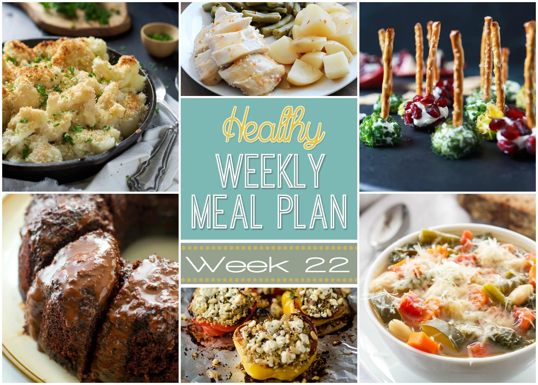 Healthy Menu Plan Week 22