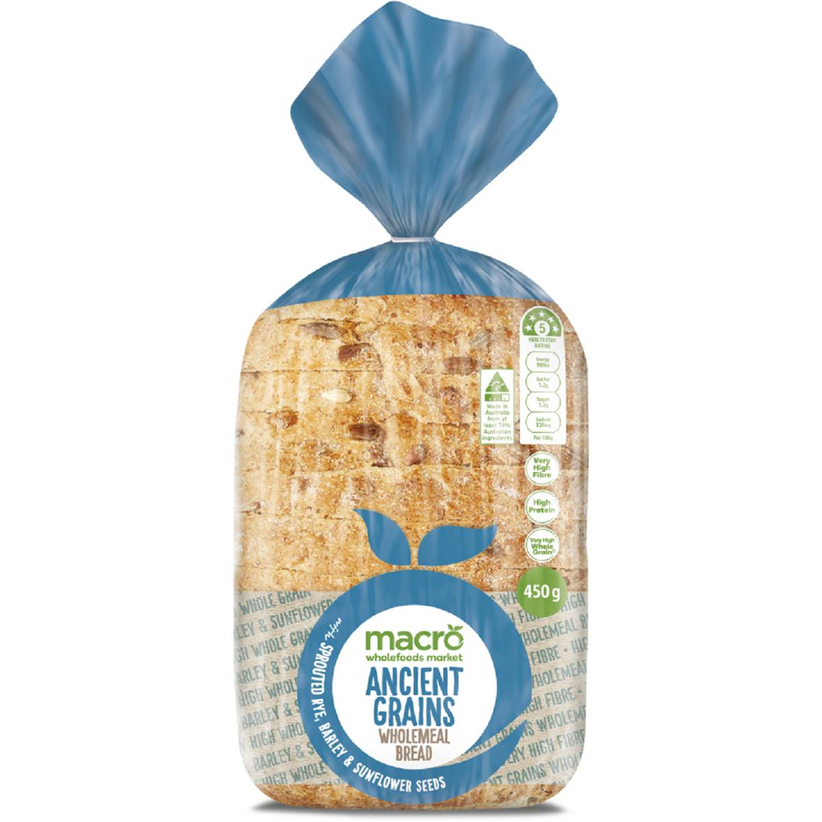 Macro Ancient Grain & Sprout Loaf Bread