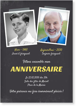 Carte Invitation Anniversaire 90 Ans Bonnyprints Fr