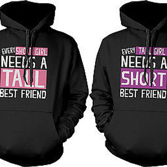 Buy Cute BFF Matching Hoodie Sweatshirts For Tall And
