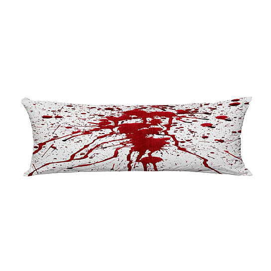 bloody splashes on white body pillow covers pillow case protector pillowcase 20x60 inch