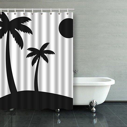 palm tree shower curtain bathroom curtain 48x72 inches