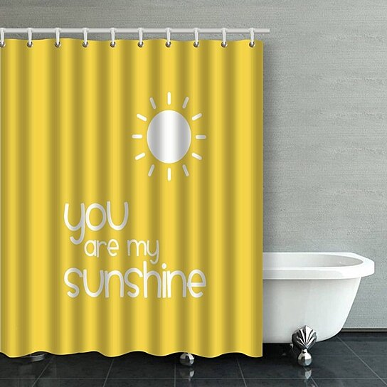 you are my sunshine yellow inspirational quotes bathroom shower curtain 60x72 inches