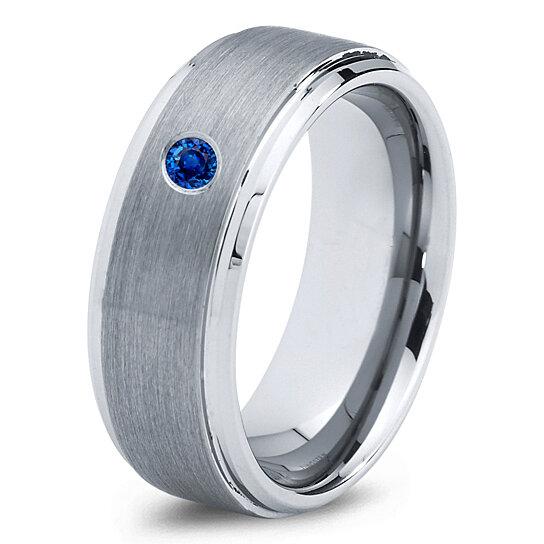 Buy Tungsten Wedding Band8mmMens Wedding BandsBlue