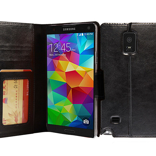 Buy Galaxy Note 4 Case AceAbove Premium Soft PU Leather Wallet Book Case Cover With Stand Flip