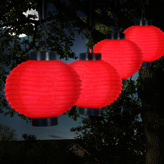 Buy Pure Garden Outdoor Solar Chinese Lanterns LED Set