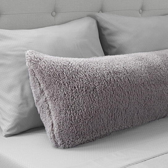 warm body pillow cover soft comfy pillow case zippered washable 52 x 18 inches gray