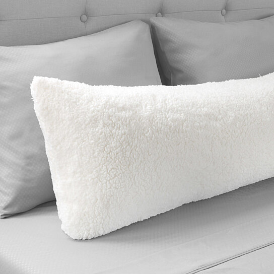 warm body pillow cover soft comfy pillow case zippered washable 52 x 18 inches white