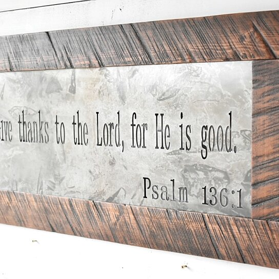 Buy Metal Sign, Metal Wall Art, Scripture Sign, Signs ... on Home Wall Decor Signs id=47663