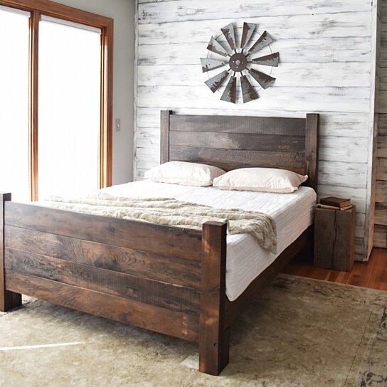 wood bed frame platform bed queen bed king headboard modern farmhouse bedroom furniture platform bed bed frame wood headboard queen