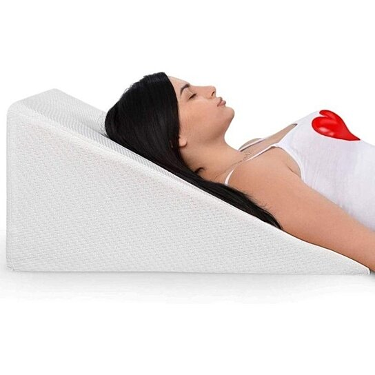 bed wedge pillow with memory foam top