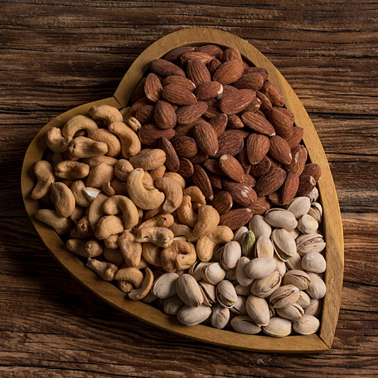 Buy Assorted Gourmet Mixed Nuts Heart Tray A Healthy Gift