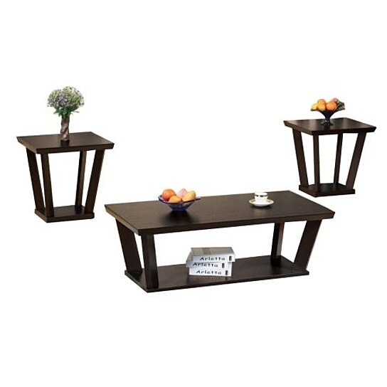 contemporary style coffee end table set of 3