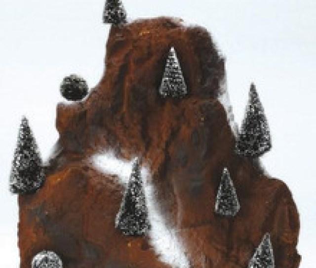 Medium Village Mountain Backdrop Lemax Christmas Village Landscape Items