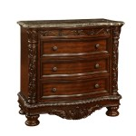 Oasis Home Patterson 3 Drawer Nightstand With Marble Top