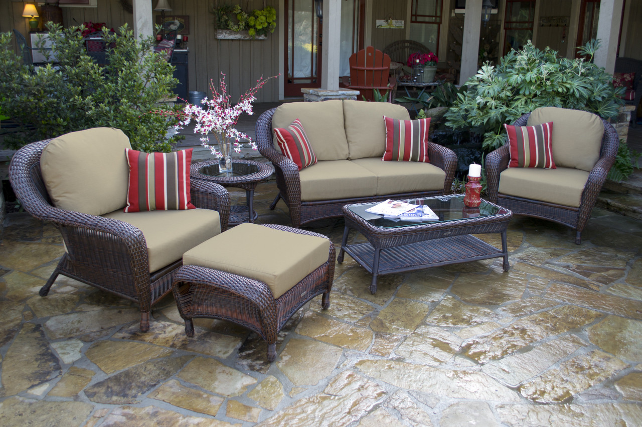 tortuga outdoor sea pines resin wicker patio furniture set with loveseat