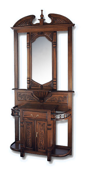 Antique Mahogany Hall Tree Laurel Crown Furniture