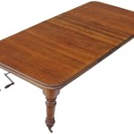 Antique Large C1870 Victorian Oak Wind Out Extending Dining Table 8 Prior Willis Antiques
